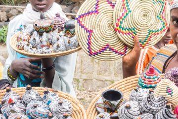 Ethiopian women selling souvenirs