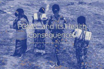 website screen image showing four young girls walking away
