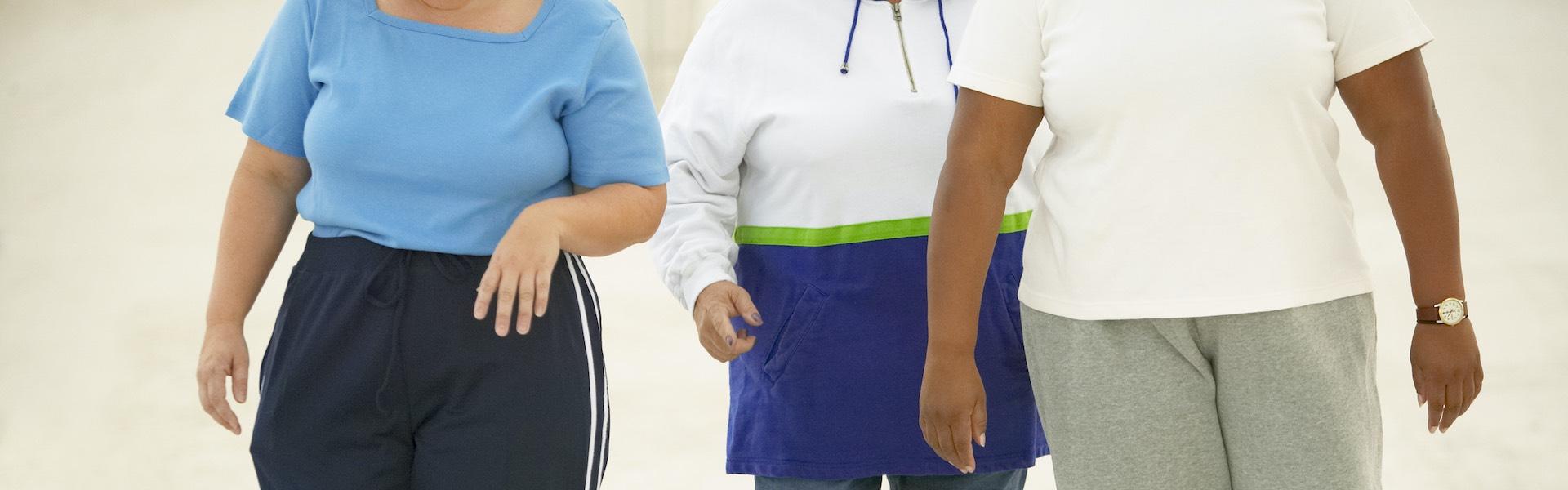 Women walking toward the camera.