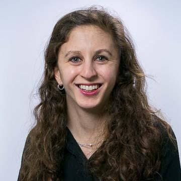 Portrait of PRB staff member Charlotte Greenbaum.