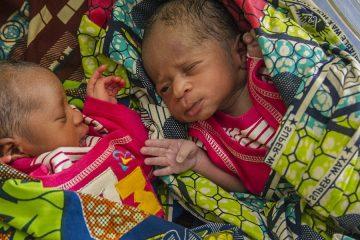 Newborn Twins in Nigerian Hospital