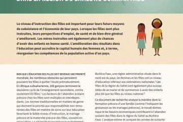Retarder Le Mariage Et La Procréation Peut Améliorer Les Résultats Scolaires Dans La Région Du Sahel Au Burkina Faso
